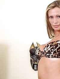 Fiery milf sex goddess pandora show us her untamed wild side in her leopard print bra and panties