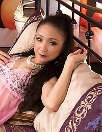 Hot Anilos mom wears a pink nightie and see through panties