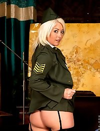 Anilos Amber Jewell wears military uniform to tease